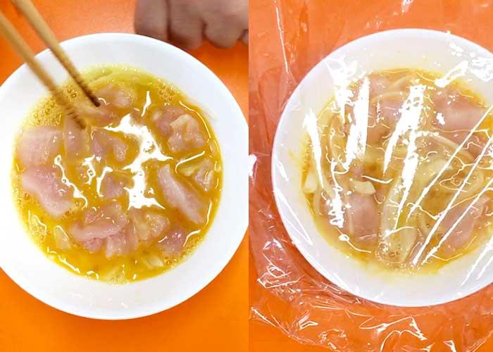 「レンジであっという間!トロトロたまごの親子丼」の作り方画像 3枚目