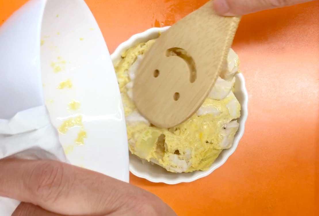 「レンジであっという間!トロトロたまごの親子丼」の作り方画像 4枚目