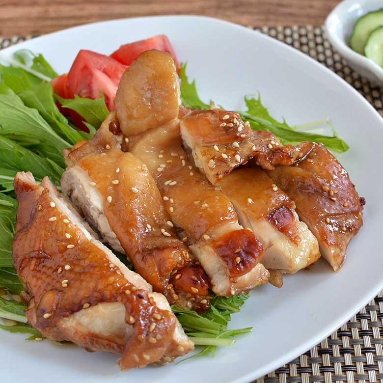 オーブンにおまかせ!失敗知らずの鶏ももてり焼きの写真