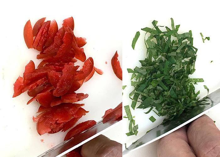 「カリカリ梅のさっぱりカンパチ丼」の作り方画像 1枚目