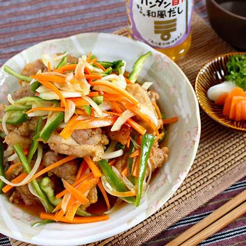 ミツカン カンタン酢「和風だし」で、鶏もも肉の南蛮漬け
