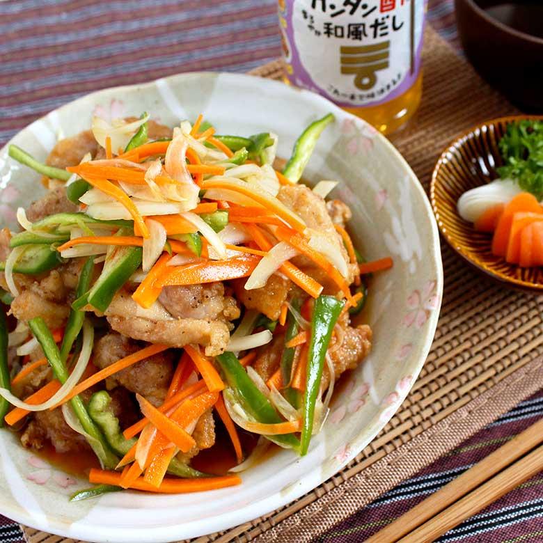 ミツカン カンタン酢「和風だし」で、鶏もも肉の南蛮漬けの写真