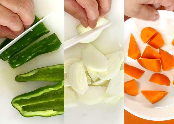 「ミツカン カンタン酢「和風だし」で作る、野菜たっぷり鶏もも炒め」の作り方画像 1枚目