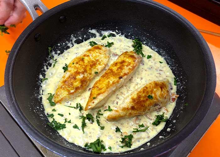 「絶品!!鶏のささみのアーモンドホイップ煮」の作り方画像 4枚目