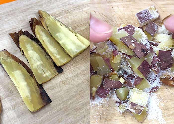 「とってもなめらか!焼き芋のプリンアラモード」の作り方画像 2枚目