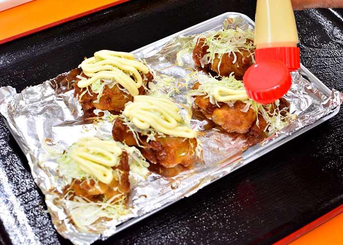 「お惣菜唐揚げでアレンジ!「広島お好み焼き風」」の作り方画像 3枚目