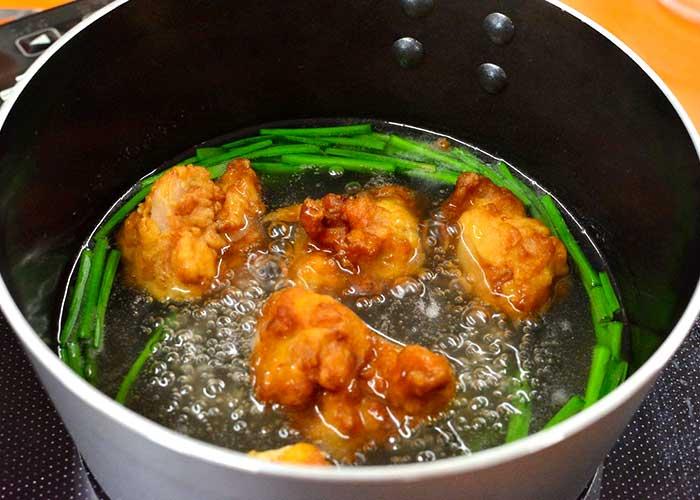 「お惣菜唐揚げでアレンジ!「びっくり美味しい!唐揚げの卵スープ」」の作り方画像 3枚目