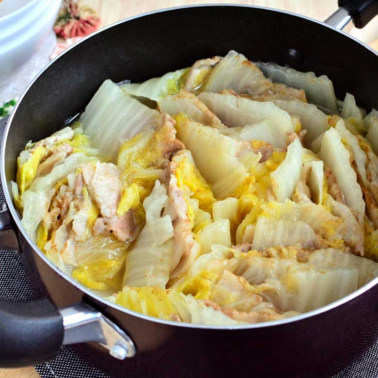 あっさり美味い!白菜と豚バラのミルフィーユ鍋の写真