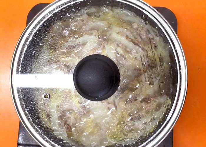 「あっさり美味い!白菜と豚バラのミルフィーユ鍋」の作り方画像 4枚目