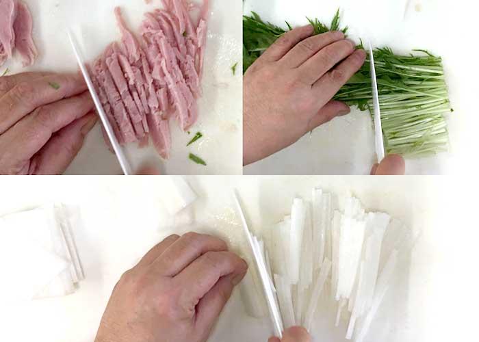 「野菜がしゃきしゃき!大根とももハムのサラダ」の作り方画像 1枚目