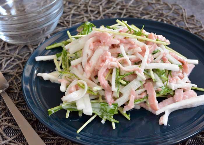 「野菜がしゃきしゃき!大根とももハムのサラダ」の作り方画像 3枚目