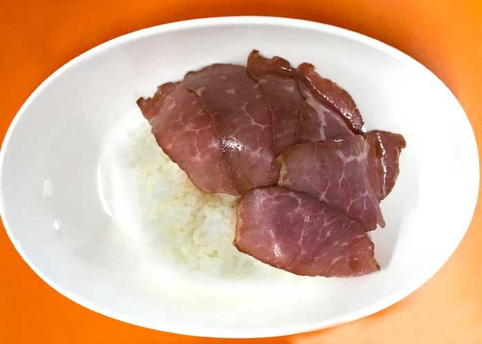 「とろ~り卵が絡まる!ローストビーフ丼」の作り方画像 2枚目