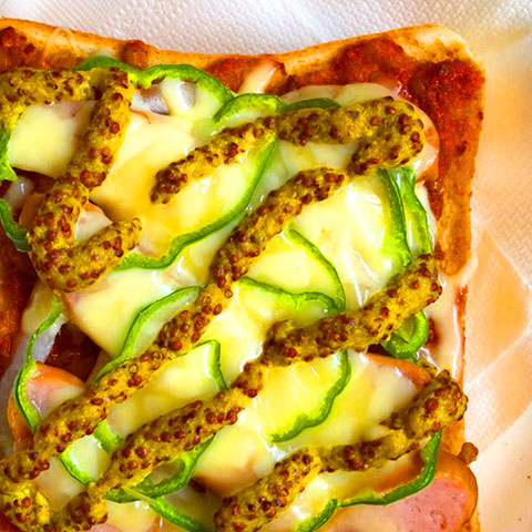 とろ~りチーズの粗挽きマスタードピザトースト