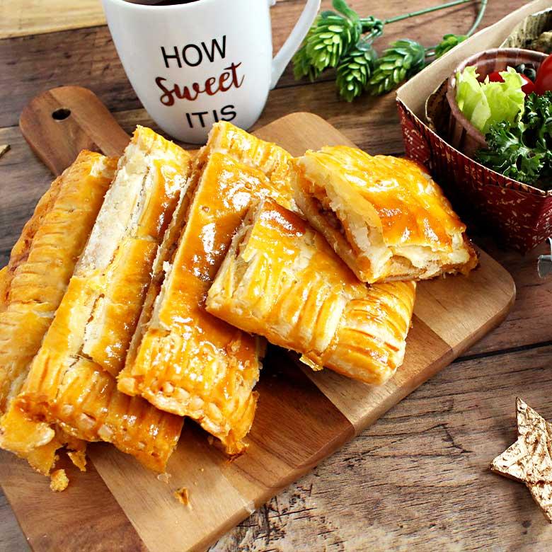 サクサク美味しい!合挽き肉のミートパイの写真