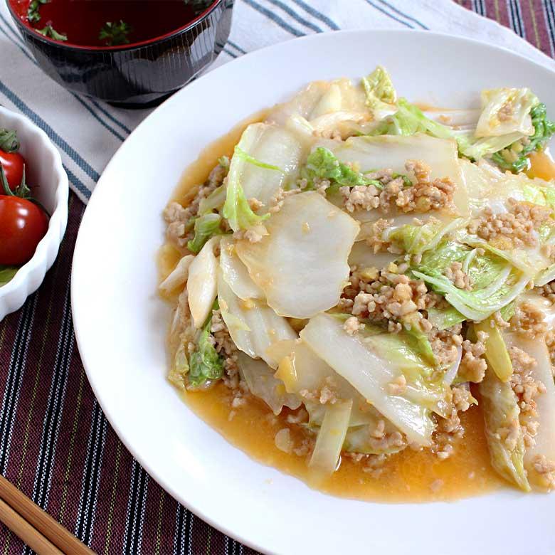しゃきしゃきトロトロ!鶏ひき肉の麻婆白菜の写真