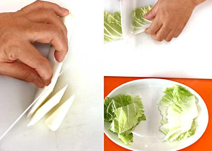 「しゃきしゃきトロトロ!鶏ひき肉の麻婆白菜」の作り方画像 2枚目