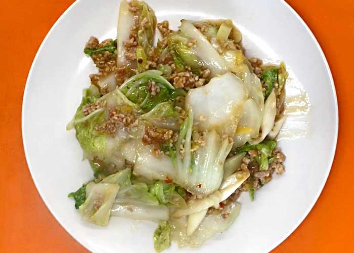 「しゃきしゃきトロトロ!鶏ひき肉の麻婆白菜」の作り方画像 5枚目