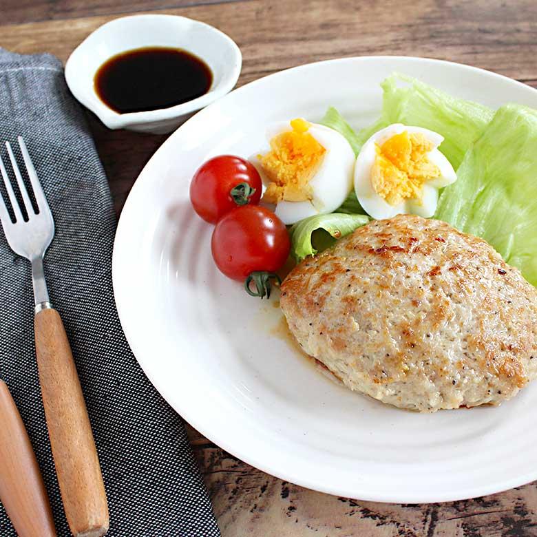 ふっくら美味しい!鶏ひき肉のマヨネーズハンバーグの写真