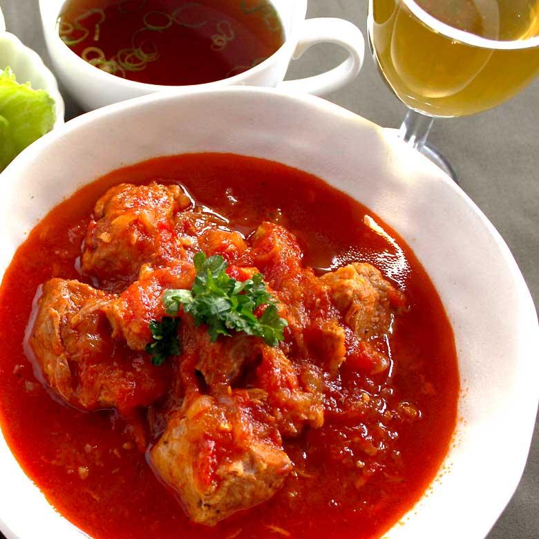 お肉ほろほろ!豚肩ロースのトマト煮の写真