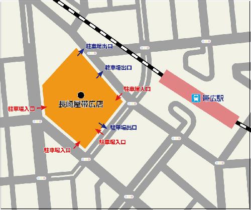 帯広店駐車場地図