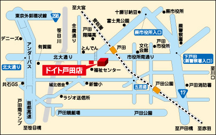 戸田店駐車場地図