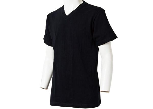 メンズ スペシャルコットン半袖シャツ(Vネック)