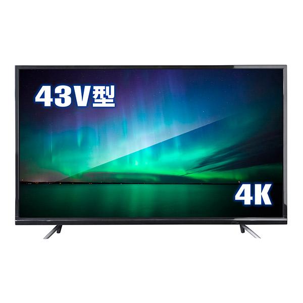情熱価格PLUS HDR対応 ULTRAHD TV 4K液晶テレビ 43V型