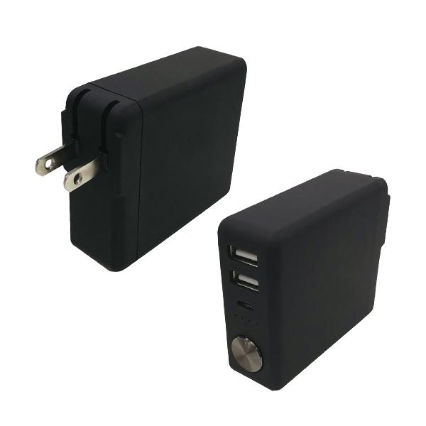 ACコンセント付き モバイルバッテリー 6000mAh