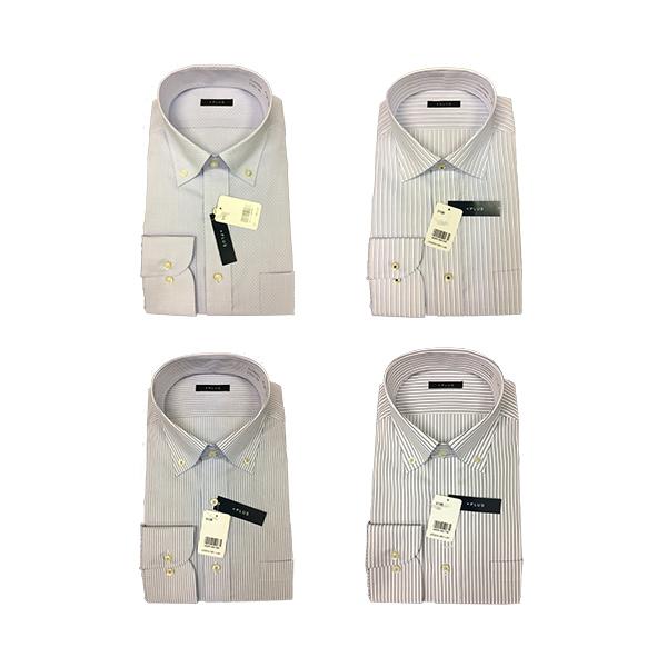 情熱価格PLUS 超形態安定長袖ワイシャツ